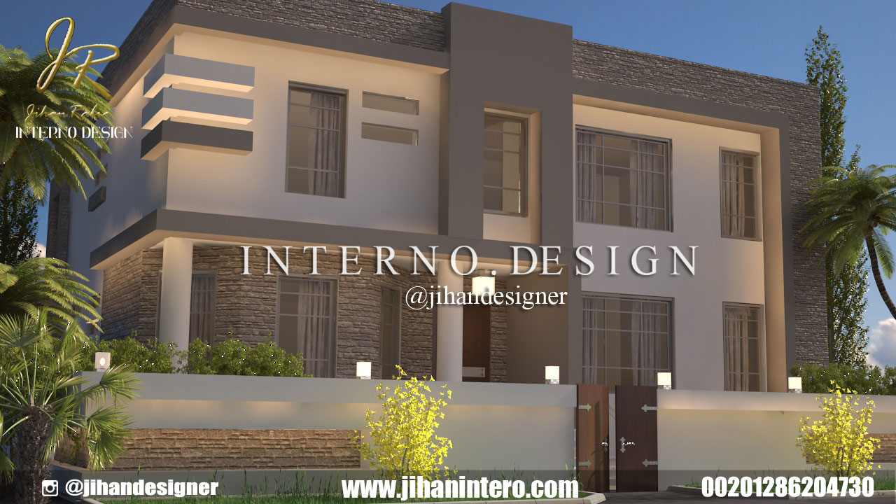 design Elevtion of villas and palace
